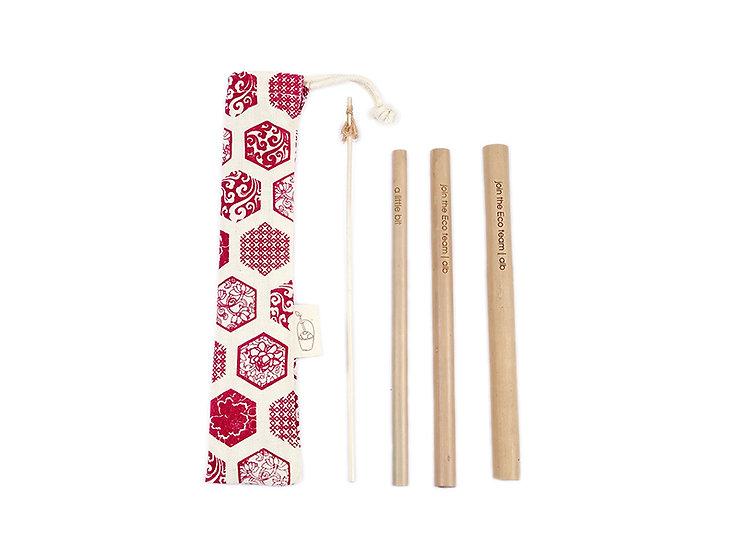 Bamboo Straw Combo - Tết
