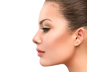 a woman's face, attractive profile