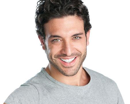a handsome man smiling