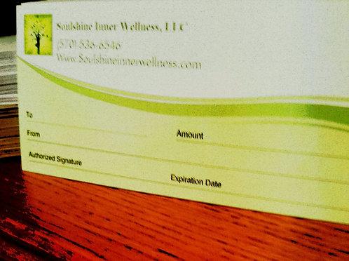 Soulshine Inner Wellness Gift Certificate