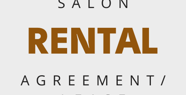 Salon Renters Agreement/Lease