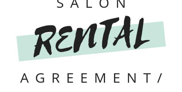 Salon Renters Agreement/Lease