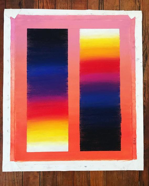 canvas, 50x60 cm., HOY. Être__Existe si