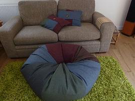 Envelope cushions & beanbag