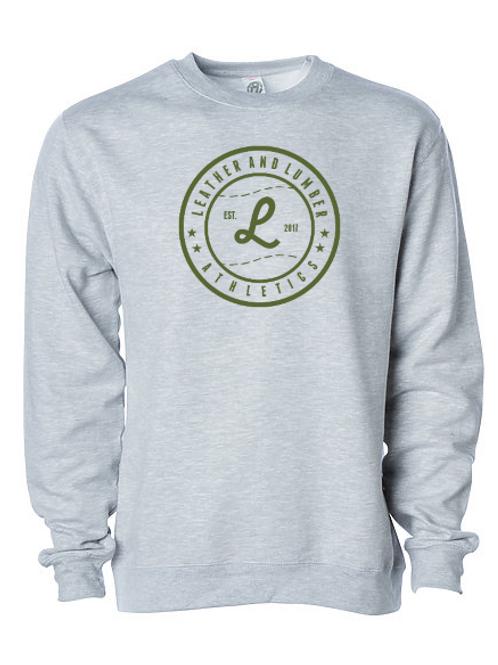 LLA Rawlings On Deck Circle Crew Sweatshirt Gray