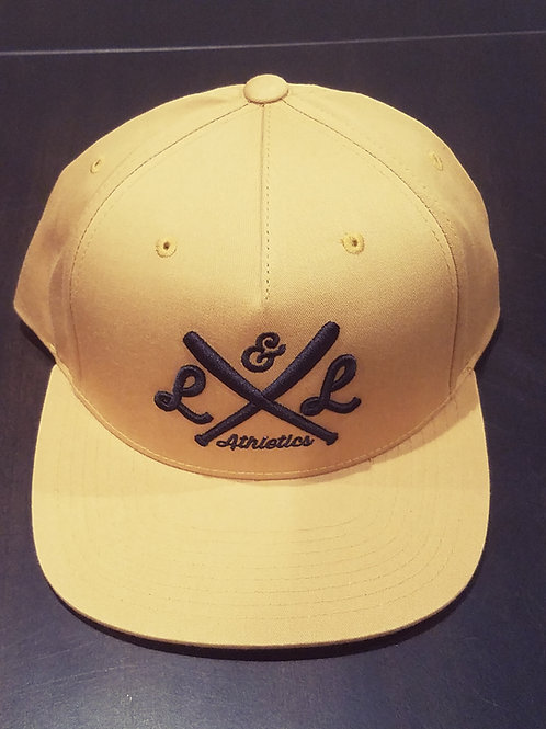 LLA Crossed Bats Embr. Biscuit/Black Snapback
