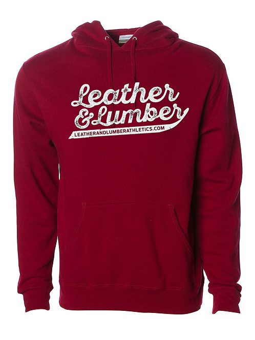 LLA Premium Script Sweatshirt Cardinal Red