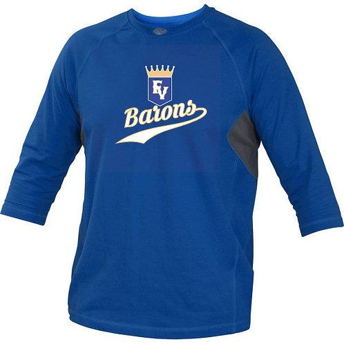 Barons Practice Performance 3/4 Shirt