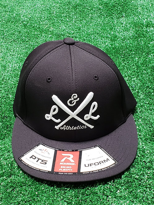 Crossed Bats Fitted Collection - Black