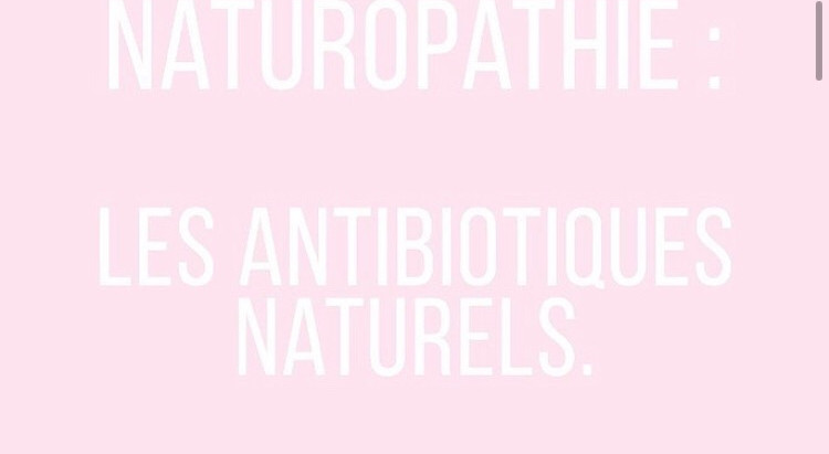 Les antibiotiques naturels.