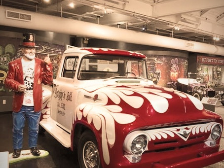 """Family research trip to the Ed """"Big Daddy"""" Roth exhibit"""
