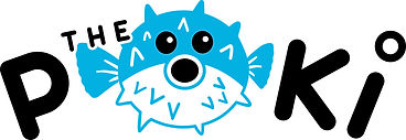 POKI- LOGO__The POKI + BLOWFISH_curved_1