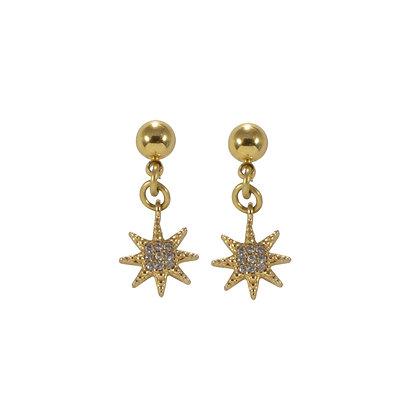 Aretes estrella zirconias
