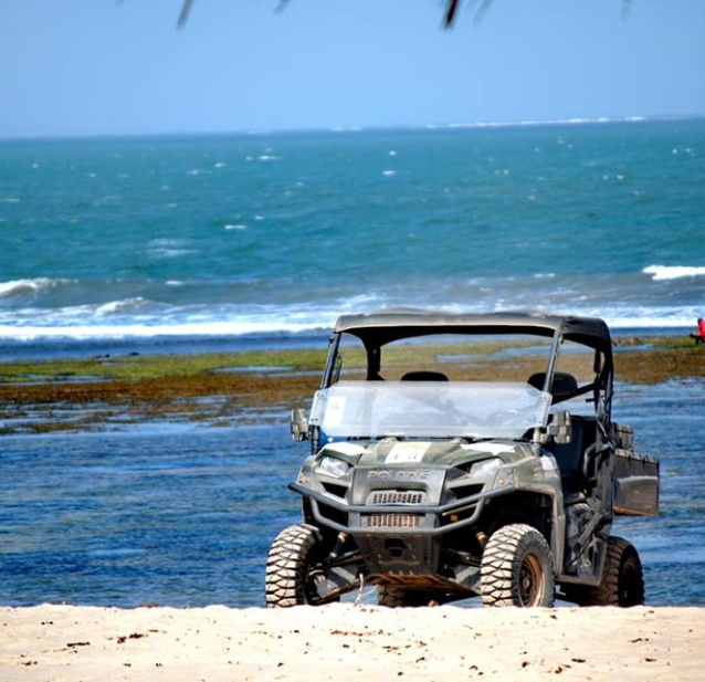 The Kola Beach's Polaris Ranger on the Mambrui's Golden Beach