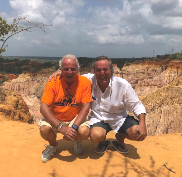 Sergio Peroni, professional organizer of competitions and championships in Italy, and Antonello Di Mauro, owner of Kola Beach Resort in Mambrui