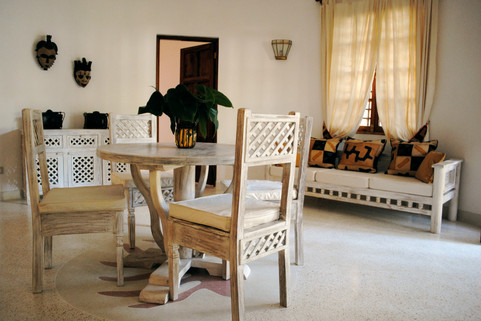living room self-catering villa mambrui