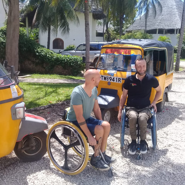Danilo and Luca are ready to drive two tuk tuk