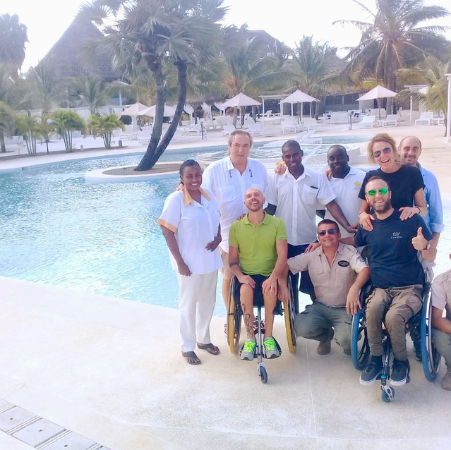 Viaggio Italia and Afreeca Eclectic by the poolside of Kola Beach Resort Mambrui