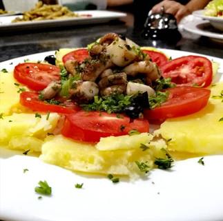 octopus salad by Gold55 Bar & Restaurant