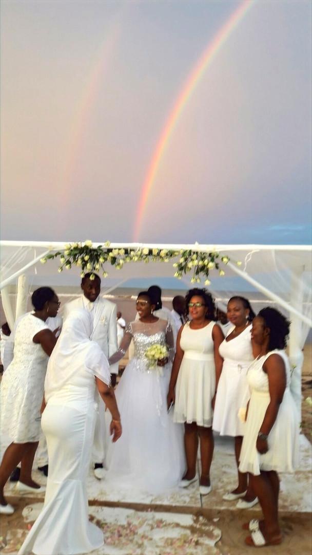 white party beach wedding kenya