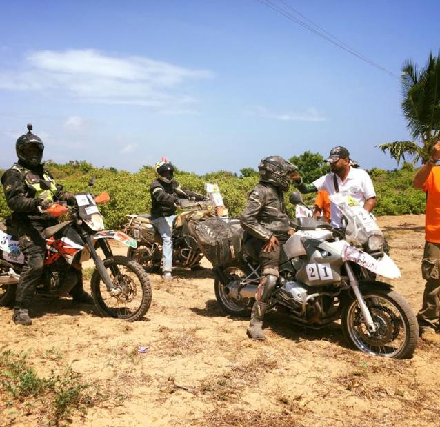 The off-road motorcycles at Malindi Meeting 4x4 2019