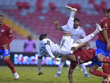Sufriendo, pero México gana en Costa Rica. Dos triunfos en dos jornadas en el Octagonal.
