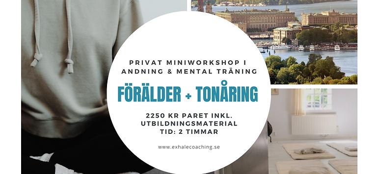 Miniworkshop för förälder + tonåring