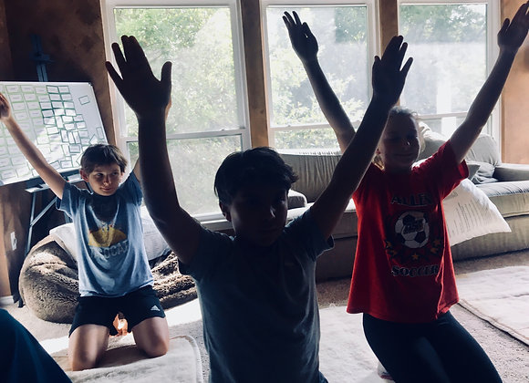 12 hours - Exhale Practices for Pre-Teens & Teens! FEE COVERS 10 participants