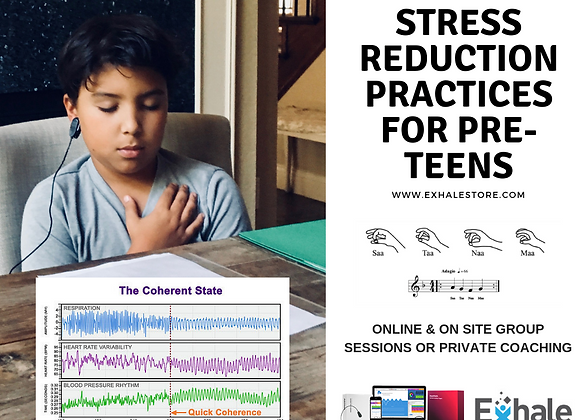 ONLINE - Exhale Practices for pre-teens/teens, 4 x 35 min sessions!