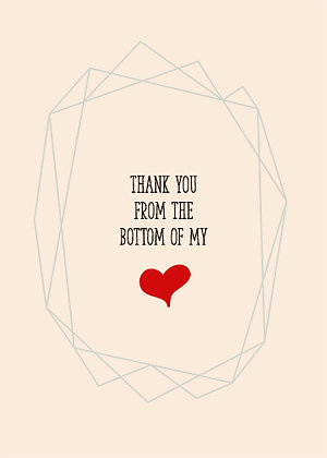 Thank You From The Bottom Of My Heart