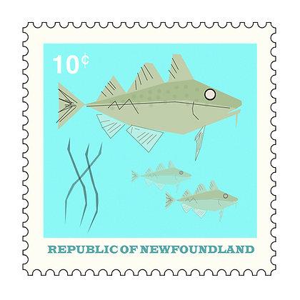 Cod -Republic Of Newfoundland - Stamp