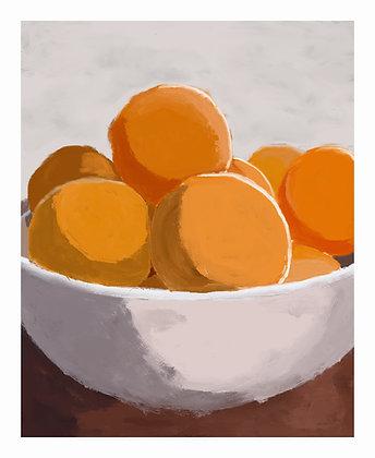 Oranges In Bowl - Still Life