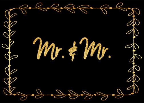 Mr. & Mr. - Leaf Border