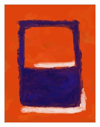 No. 5 (Orange, Blue, White)