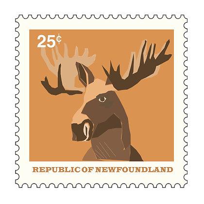 Moose - Republic Of Newfoundland - Stamp