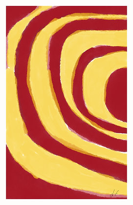 Red Ripples - Abstract 1