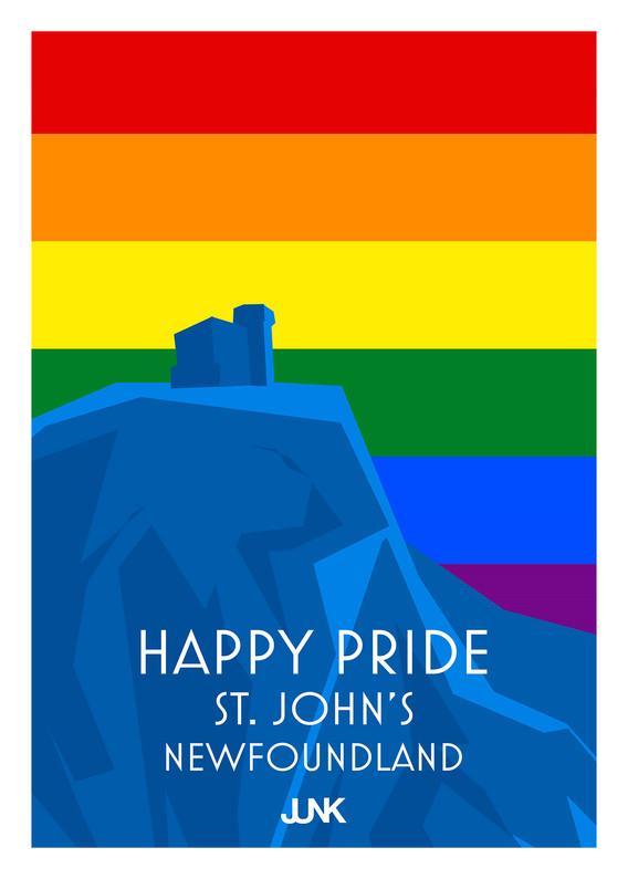 Happy Pride - Signal Hill - Postcard