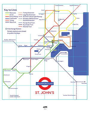 St. John's Underground Card