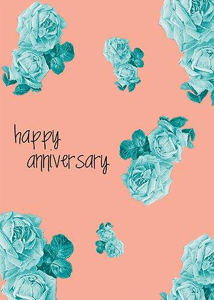 Happy Anniversary - Blue Rose