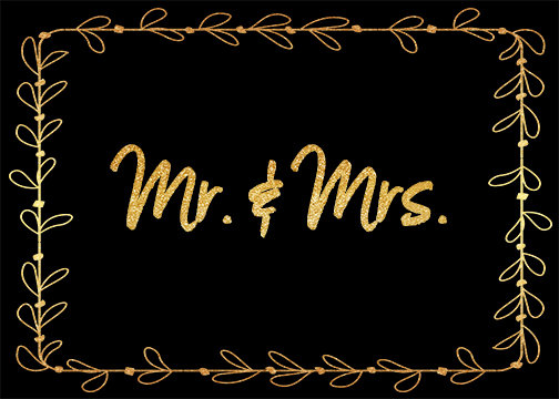 Mr. & Mrs. - Leaf Border