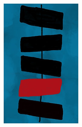 Black & Red Rectangles - Abstract 1
