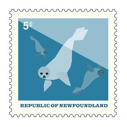 Seal - Republic Of Newfoundland - Stamp