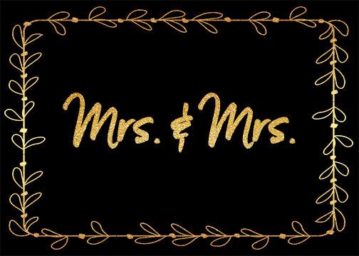 Mrs. & Mrs. - Leaf Border
