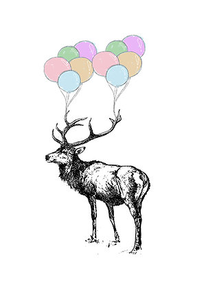 Stag With Balloons