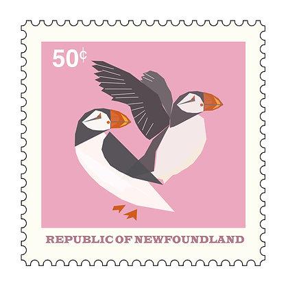 Puffins - Republic Of Newfoundland - Stamp