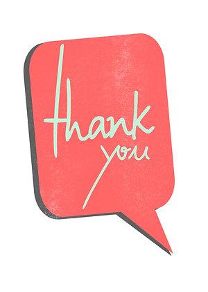 Thank You - Speech Balloon