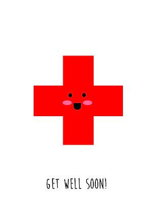 Smiley Cross -Get Well Soon!