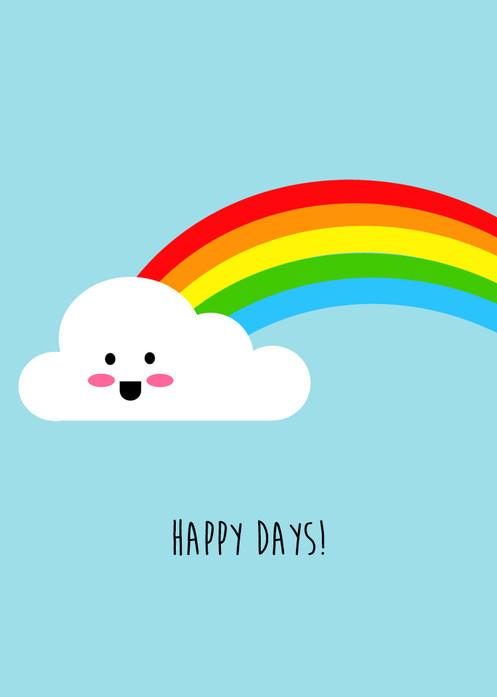 Smiley Cloud Rainbow