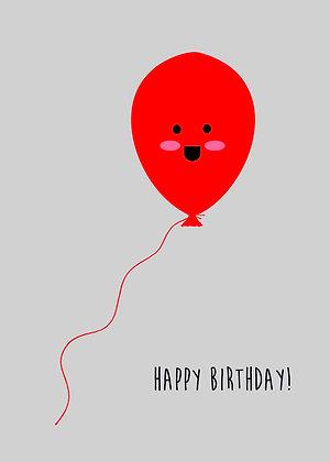 Smiley Birthday Balloon