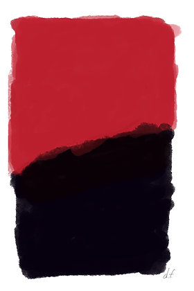 Red & Black Rectangle Abstract 1